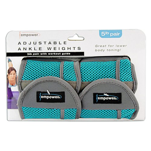 Empower Adjustable Ankle Weights 5lb Pair