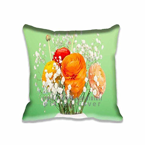 Persian Buttercup Bouquet Throw Pillow Covers Pattern - Modern Decorative Pillowcases for Couch ,Unique Case - Bouquet Buttercup