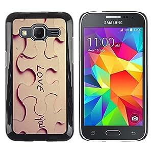 Un Papel amor escultura fotográfica - Metal de aluminio y de plástico duro Caja del teléfono - Negro - Samsung Galaxy Core Prime