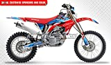 Kungfu Graphics Alpinestars Custom Decal Kit for Honda CRF450X 2008 2009 2010 2011 2012 2013 2014 2015 2016 2017, Red Blue White