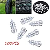 "Tyre Stud - Delaman 100pcs 15mm/0.59"" Wheel Tyre Stud Screws, Snow Tire Spikes for Car Auto SUV ATV"