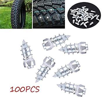 Elerose 15mm//0.59 Anti Rutsch Spike Schrauben Tires Schneeketten Reifen Spikes f/ür Auto LKW SUV ATV 100 PCS