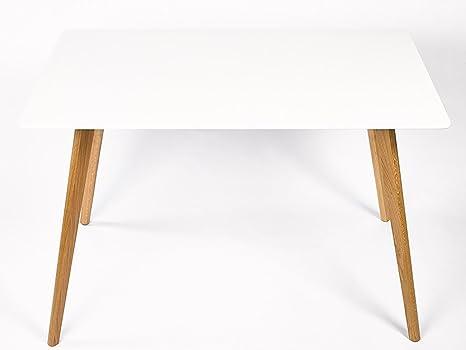 Tavolo Bianco 120 X 80.Simla Tavolo Da Pranzo Scandinavo Bianco 120 X 80 Cm