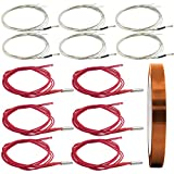 AFUNTA 12 PCS 12V 40W 620 Ceramic Cartridge Heater and NTC Thermistor 100K 3950 Fit 3D Printer & Heat High Temperature Resistant Adhesive Polyimide Tape for Electric Task - Red & White