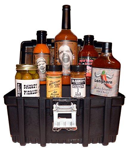 Gourmet BBQ Sauce Tool Box Gift Basket Set