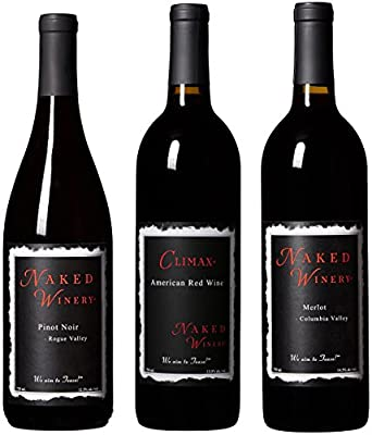 "Naked Winery ""For Red Heads Only"" Oregon & Washington Wine Bundle Mixed Wine Pack, 3 x 750 mL from Naked Winery"