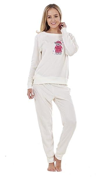 Ex Famous Store - Pijama - para mujer blanco crema 18