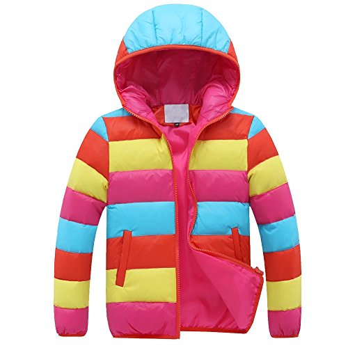 Kmety Little boys' Colorful Thickened Winter Coat Hooded Puffer Down Packable Jacket by Kmety Boys Clothing