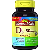 #5: Nature Made Vitamin D3 2000 IU Softgels 250 Ct Value Size (Packaging may vary)