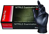 SKINTX Nitrile Powder-Free 5-5.5 mil Medical Grade Examination Glove, Black