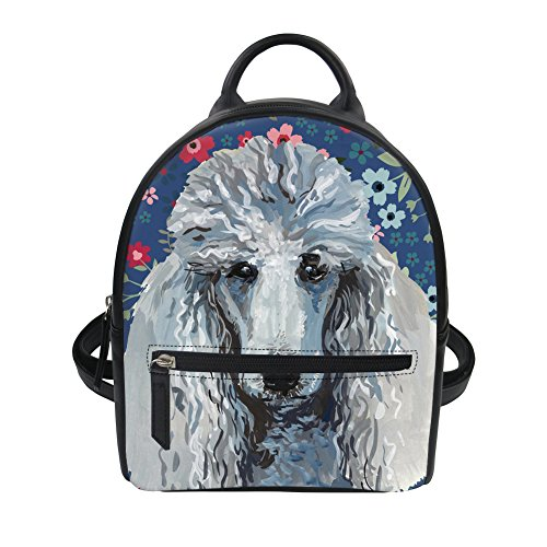Yorkie IDEA Shoulder PU Casual Mini Ipad Terrier Leather Poodle for HUGS Bag Pattern Girl Knapsack Backpack Small 5qT7qdx
