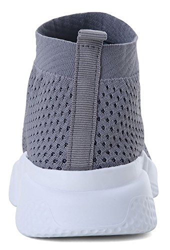 Fabric Mesh Walking Running Grey Fashion lightweight Utra Shoes Breathable Sneakers Landeer Men Women's Athletic And 0xqB4Yapw