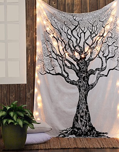 Native Purity Tree of Life Tapestries , Hippie Tapestries , Bohemian Boho Tapestry , Dorm Tapestry ,Wall Tapestries, Tapestry Wall Hanging by Labhanshi
