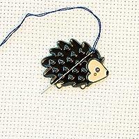 Cute Hedgehog Enamel Needle Minder