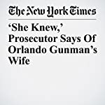'She Knew,' Prosecutor Says of Orlando Gunman's Wife | Erin Marie Daly,Richard Pérez Peña,Adam Goldman