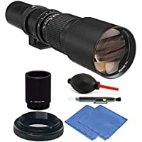 Bower 500mm / 1000mm f/8 Telephoto Lens for Nikon D5 D4S DF D4 + 2X Converter
