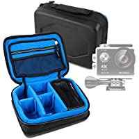 Protective EVA Action Camera Case (in Blue) for the AKASO EK7000 Action Camera - by DURAGADGET