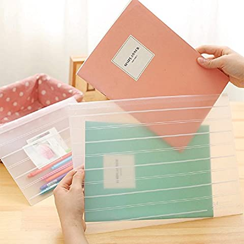 Funnylive 10 Pcs;Soft Transparent PP Valve Bag Environmental Protection File Folder Holder for A4 Paper Document (A4 File Bag)