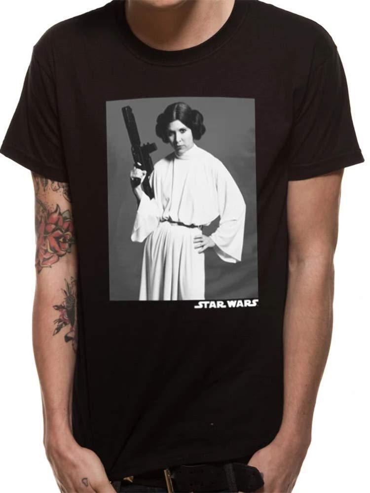 Star Wars Leia Classic Portrait Camiseta, Negro (Negro), S para Hombre: Amazon.es: Ropa y accesorios