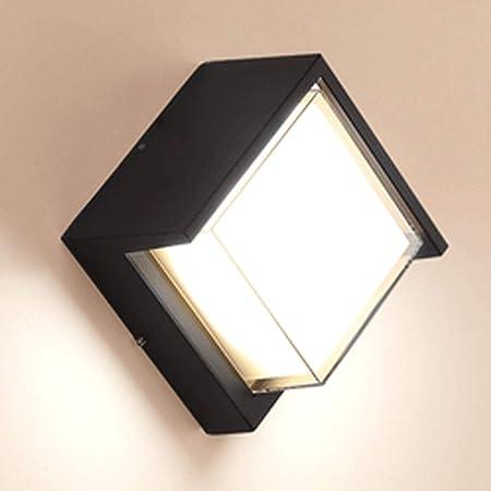 IFDyj Aplique Exterior Minimalista Moderno A Prueba de Agua Aplique de Pared Diseño Creativo Balcón Jardín Patio Pasillo Salón Lámpara de Pared Interior Lámpara de Pared Led (Color : 15w Warm Light):