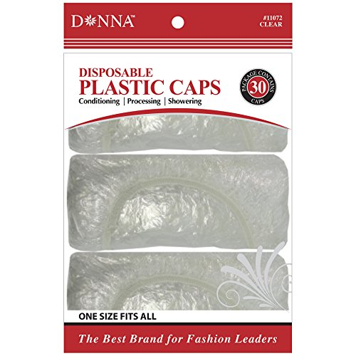 (Donna Collection Disposable Clear Shower Cap, 30 Count)
