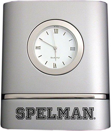 Spelman College- Two-Toned Desk Clock -Silver