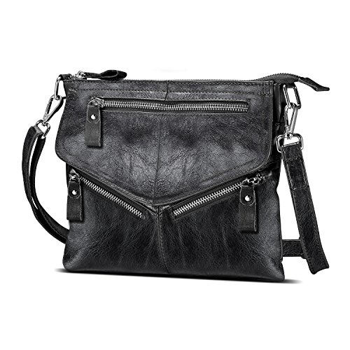 Women's Leather Small for body Purses Zipper Bags Women Shoulder Travel Cross Soft Black Purses Lecxci dCqxwgd