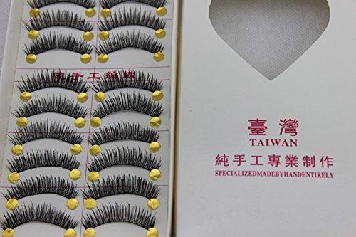 New 10 Pair Handmade Natural Soft Long False Eyelashes Fake Eye Lash P29