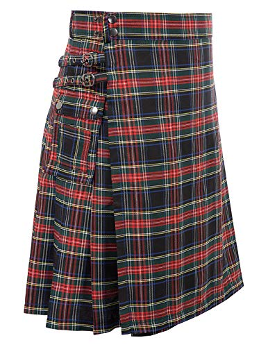 Men's Scottish Highlander Utility Kilt Royal Stewart M