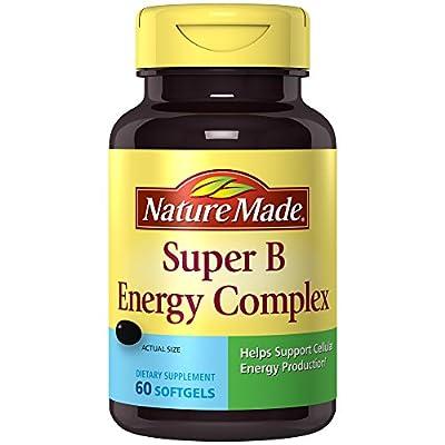 Nature Made Super B Complex Full Strength Mini Softgels, 60 Ct