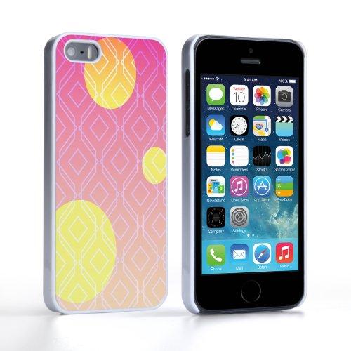 Caseflex Coque iPhone 5 / 5S Etui Rose 3 Soleils Dur Housse