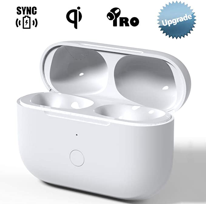 NeotrixQI Reemplazo de la Caja de Carga inalámbrica Compatible con AirPods Pro, Estuche de Carga para Air Pod Pro Auriculares con Botón de Sincronización de Emparejamiento Bluetooth …: Amazon.es: Electrónica