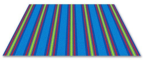 Kid Carpet FE809-22A Classic Stripes Kids Nylon Area Rug 4' x 6' Multicolored [並行輸入品] B07HLHZSPD