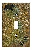 Big Sky Carvers 30170437 Bear and Tracks Single Switch Plate offers