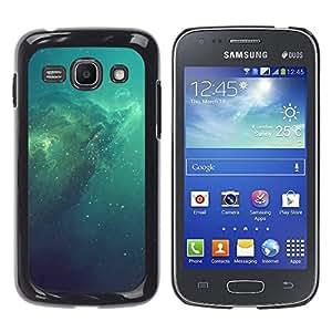 Azul Espacio Galaxy - Metal de aluminio y de plástico duro Caja del teléfono - Negro - Samsung Galaxy Ace 3