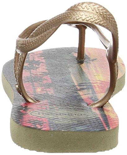 Havaianas Luna Print, Sandalias para Mujer Multicolor (Sand Grey/Rose Gold 4879)