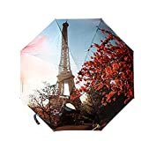 OLizee™ Creative 3D Print Windproof High Durability Foldable Umbrella(Eiffel Tower)