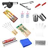 KevenAnna Deluxe BBQ Grill Tool Set 12 Piece BBQ Grill Accessories, Best Gift for Outdoor Grilling