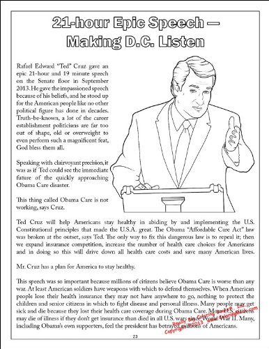 Ted Cruz to the Future - Comic Coloring Activity Book ...
