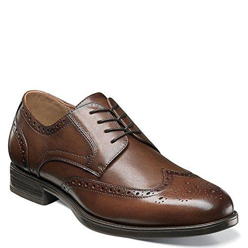 (Florsheim Men's Midtown Wingtip Oxford Cognac Smooth 11 D US)