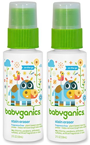 Babyganics Stain Eraser Marker, 2oz, On-The-Go (Pack of 2)