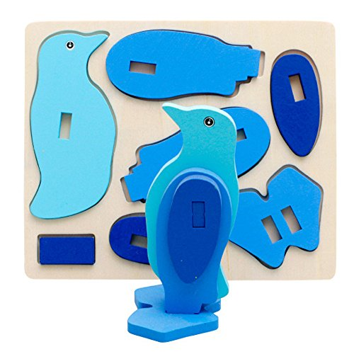 Wooden Colorful Puzzle Jigsaw Toy - 3