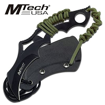 "Mt-20-20t M-tech Tactical I658w075 Fix 82593s202w4 Blade Neck Knife ""8"""""" Overall Steel Fixed Knife Fix Blade Hunt Camping Camp"