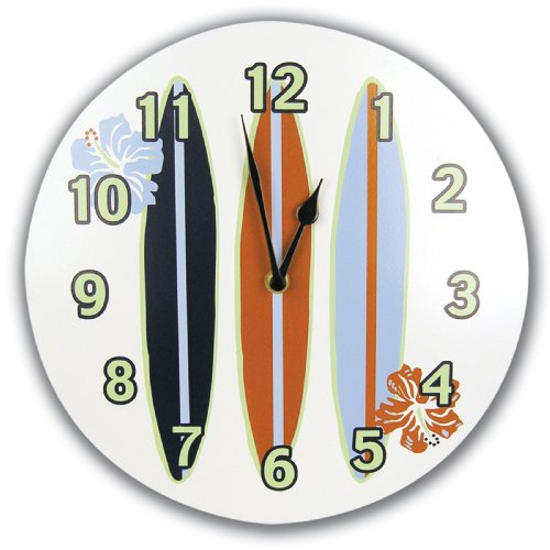 Trend Lab Surfs Up Wall Clock (Surfing Girl)