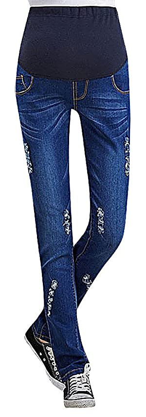 US&R, Women's Washed Eclectic Styles Secret Fit Belly Maternity Skinny Jeans, 0130P38YZ 8 ,Manufacturer(XL)