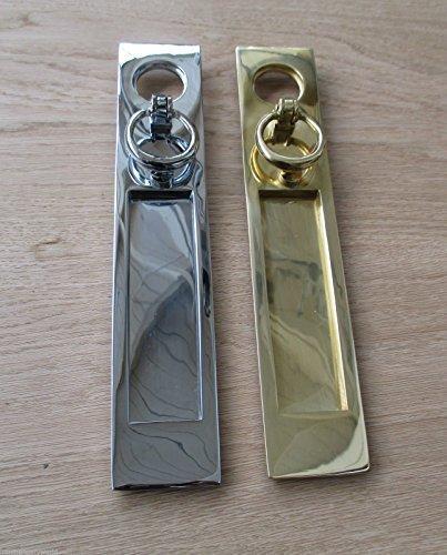 High Quality Heavy Duty Georgian Door Knocker Brass Chrome /& Satin Chrome