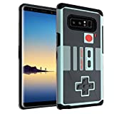 Cheap Galaxy Note 8 Game Controller Case, IMAGITOUCH 2-Piece Style Armor Case with Flexible Shock Absorption Case and Retro Game Controller Cover for Galaxy Note 8 (2017)– NES Controller Hybrid