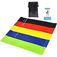 Floridivy 5pcs / set Workout Resistance Bands Loop Yoga kracht in de benen flexibiliteit oefenband Elastic Stretch Strap