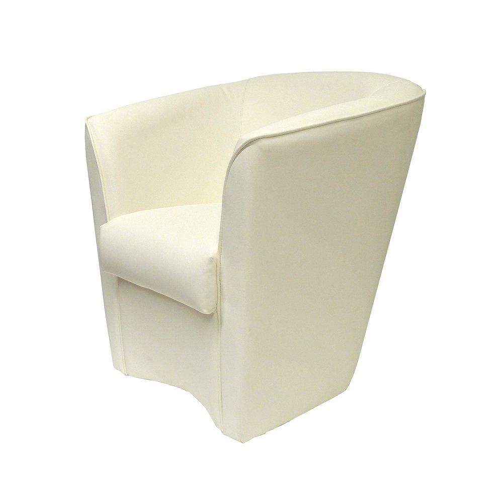 Sillón de eco-piel blanco fabricado en Italia para oficina ...