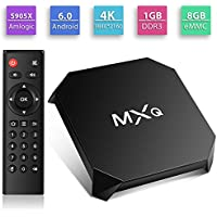 MXQ U2+ android 6.0 TV box Amlogic S905X Quad-Core 1/8G eMMC Software Pre-installed Ultra HD 4K H.265 Hardware Video Decode 2.4G WIFI Smart TV Box